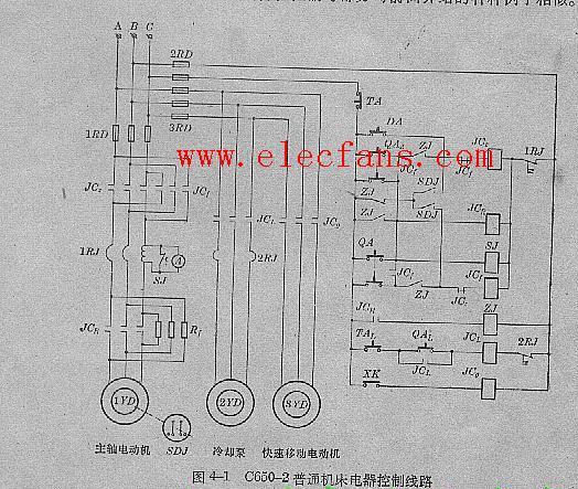 普通机床电器控制线路图c650-2型          空调控制板原理图