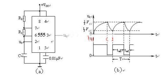 555构成的多谐振荡器电路原理分析